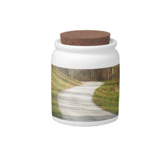 Winding Midwestern Country Road Candy Jars