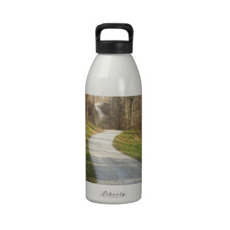 Winding Midwestern Country Road Drinking Bottle