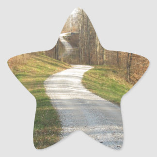 Winding Midwestern Country Road Star Sticker
