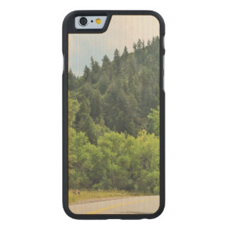 Winding Mountain Road Carved Maple iPhone 6 Slim Case