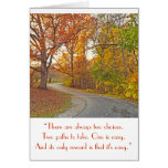 """WINDING PATH THROUGH WOODS"" GREETING CARD"