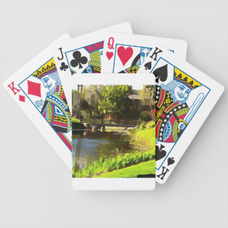 Winding River and Bridge at Resort Bicycle Playing Cards