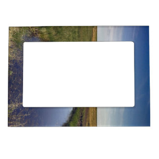Winding River By The Coast Magnetic Photo Frame