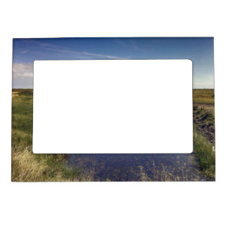 Winding River By The Coast Magnetic Picture Frame