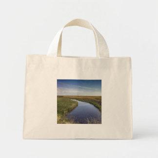 Winding River By The Coast Mini Tote Bag