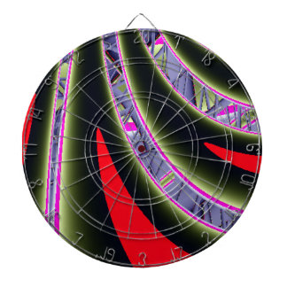Winding Road Fractal Dartboard With Darts