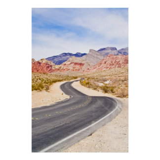 Winding Road Red Rock Canyon Poster