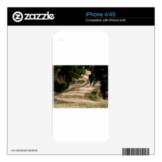 Winding Road through the Trees Decal For iPhone 4