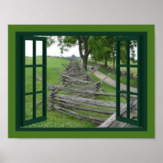Winding Split Rail Fence Poster