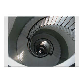 Winding staircase poster