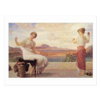 Winding the Skein - Lord Frederick Leighton Postcard