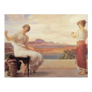 Winding the Skein - Lord Frederick Leighton Postcard