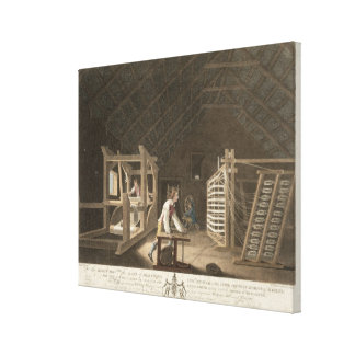 Winding, Warping with a New Improved Warping Mill Canvas Print