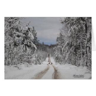 Winding Winter Road Greeting Card