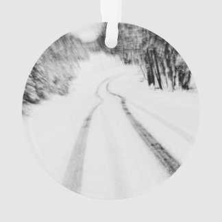 Winding Wintry Road Ornament
