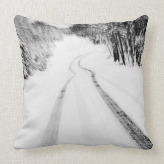 Winding Wintry Road Pillows