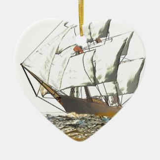 Windjammer Ceramic Ornament
