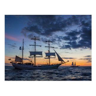 Windjammer en el mar Báltico Postal