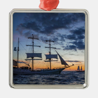Windjammer on the Baltic Sea Metal Ornament