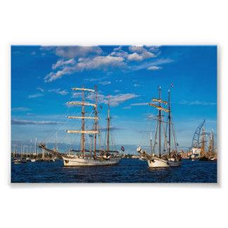 Windjammer on the Hanseatic Sail in Rostock Photo Print
