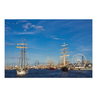 Windjammer on the Hansesail in Rostock (Germany) Photo Print