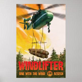 Windlifter - uno con el viento póster