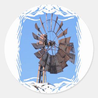 Windmill 1 classic round sticker