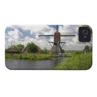 Windmill along a canal east of Leiden in the iPhone 4 Cover