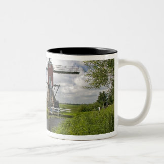 Windmill along a canal east of Leiden in the Two-Tone Coffee Mug