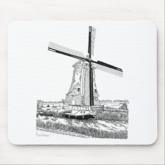 Windmill and Boat Mousepad