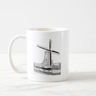 Windmill and Boat Mug mug