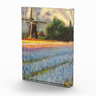 Windmill and Bulb Fields Acrylic Award