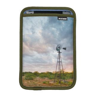 Windmill And Clouds At Sunset iPad Mini Sleeve