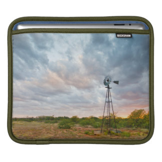 Windmill And Clouds At Sunset iPad Sleeve
