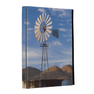 Windmill And Dam In The Karoo At Sunrise iPad Case