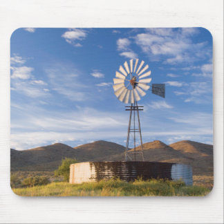 Windmill And Dam In The Karoo At Sunrise Mouse Pad