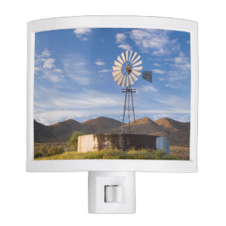 Windmill And Dam In The Karoo At Sunrise Night Light