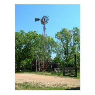 Windmill And Farm Postcard