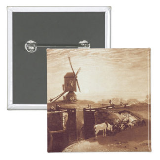 Windmill and Lock, engraved by William Say (1768-1 Button