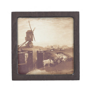 Windmill and Lock, engraved by William Say (1768-1 Keepsake Box