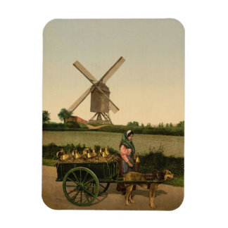 Windmill and Milk Seller Magnet