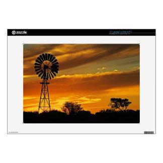 Windmill and Sunset, William Creek, Oodnadatta Laptop Skin