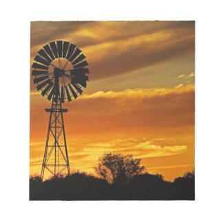Windmill and Sunset, William Creek, Oodnadatta Notepad