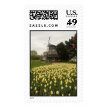 Windmill and Tulips Postage Stamp