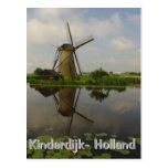 Windmill at Kinderdijk Postcard