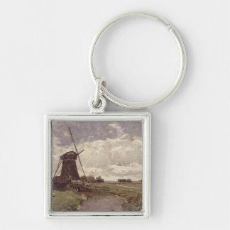 Windmill at Leidschendam Keychain