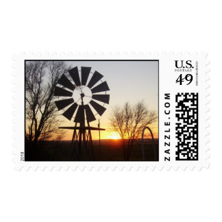 Windmill at Sunset Stamps
