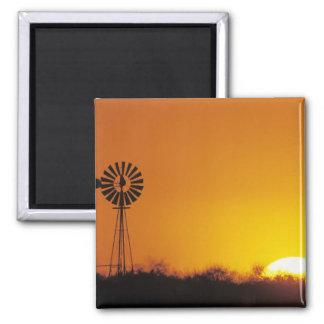 Windmill at sunset, Sinton, Texas, USA Fridge Magnet