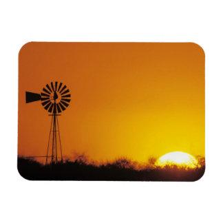 Windmill at sunset, Sinton, Texas, USA Magnets