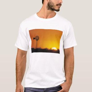 Windmill at sunset, Sinton, Texas, USA T-Shirt